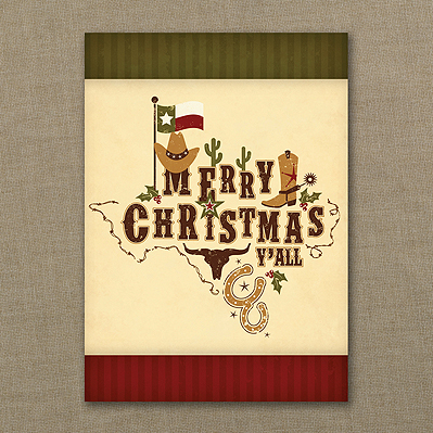 texas holiday cards texas theme greeting cards christmas - Texas Christmas Cards