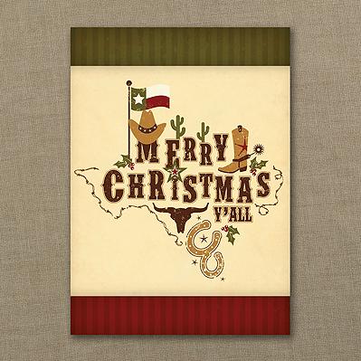 texas holiday cards texas theme greeting cards christmas